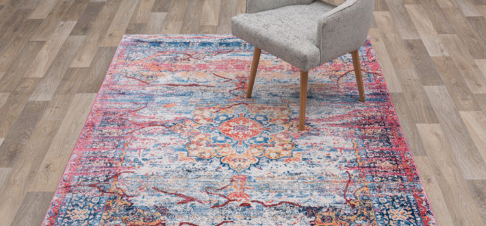 Antique Agra Rug in living Room