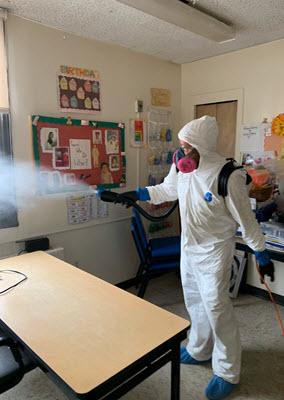 School complex disinfection service
