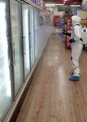 Supermarket disinfection service